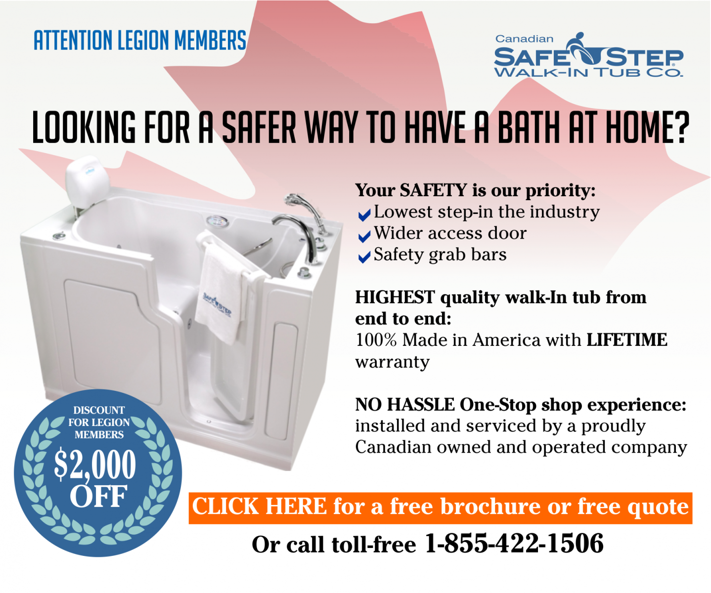 SafeStep Walk-In Tubs