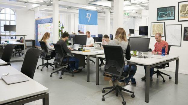 Escritório do TransferWise em Londres