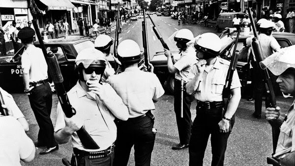 Detroit police during the civil unrest, summer of 1967.