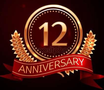 12th anniveersary logo