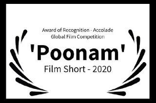 Poonam, produced by Shilpi's Voice & Visuals and Epicreel (PTPL), won prestigious international 'Award of Recognition - Film Short', from The Accolade Global Film Competition, La Jolla, CA