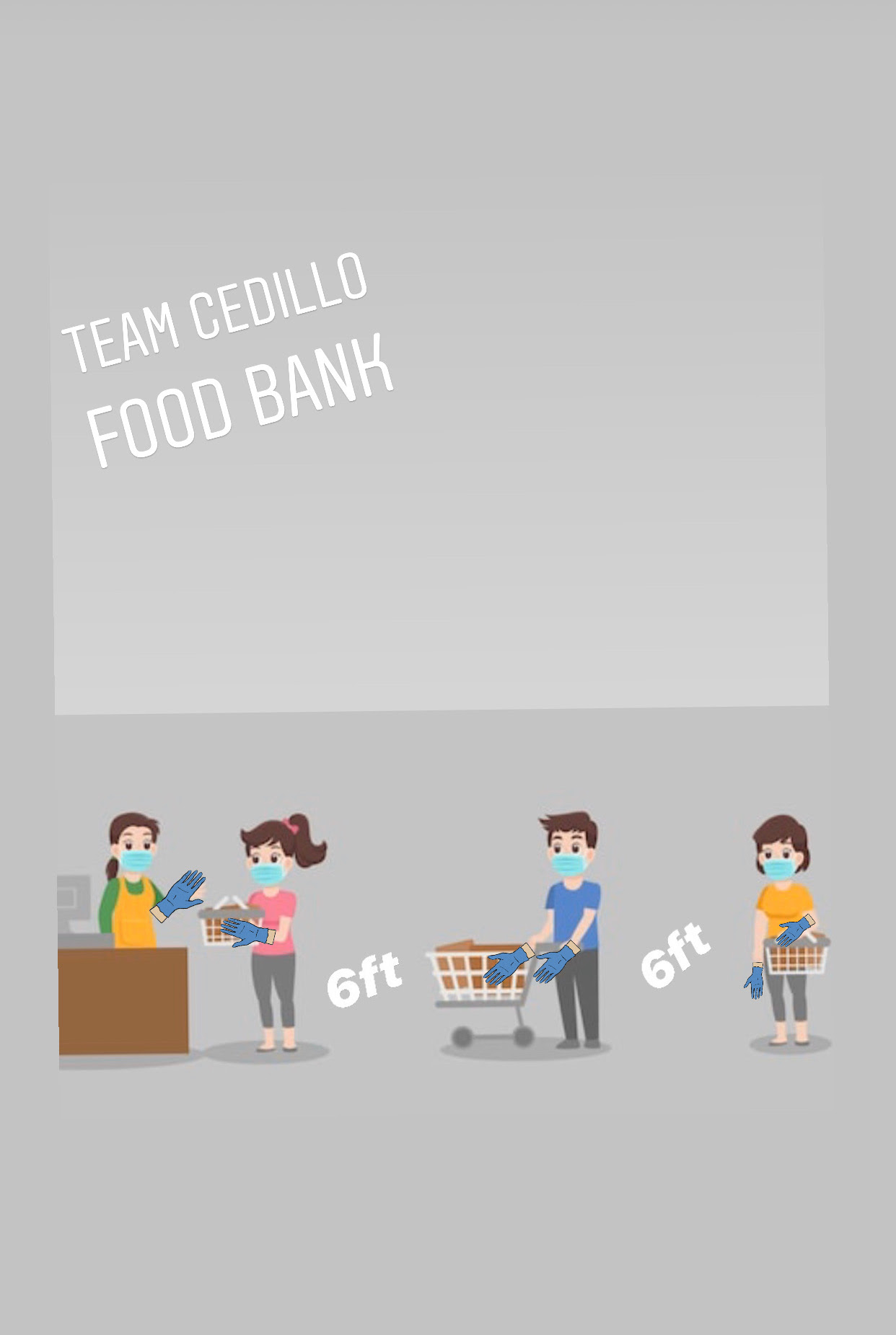Cedillo Food Bank 6 feet apart