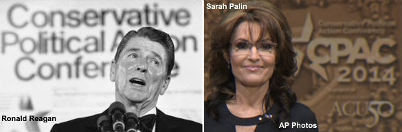 Ronald Reagan and Sarah Palin at CPAC