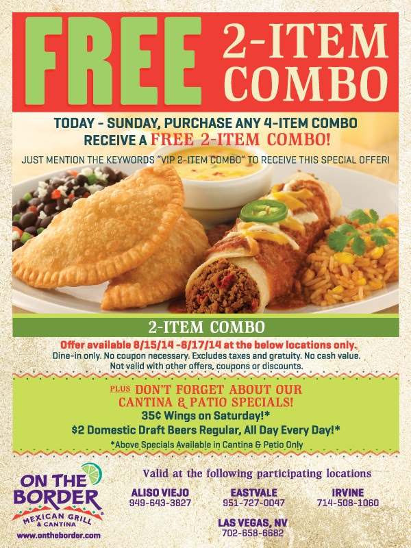Free 2 Item Combo, this Weekend Only!