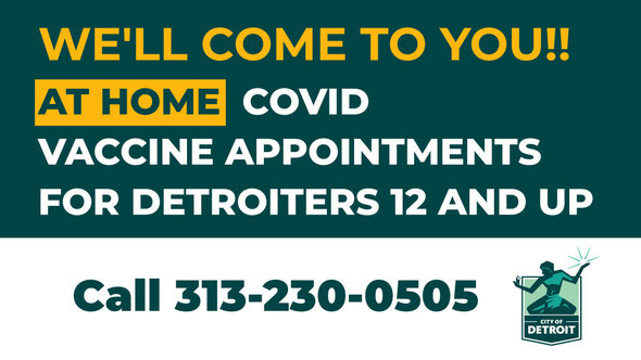 City Offers At-Home Vaccinations for Eligible Detroiters