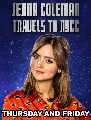 Jenna Coleman travels to New York Comic Con Thursday and Friday