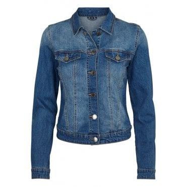 Denim Jacket in Soft Blue