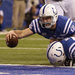 Andrew Luck scoring after recovering a fumble. He led the Colts back from a 28-point second-half deficit.