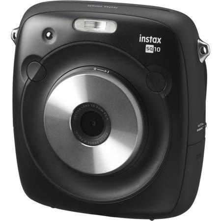 instax SQUARE SQ10 Instant Film Camera, Hybrid Film + Digital - Black