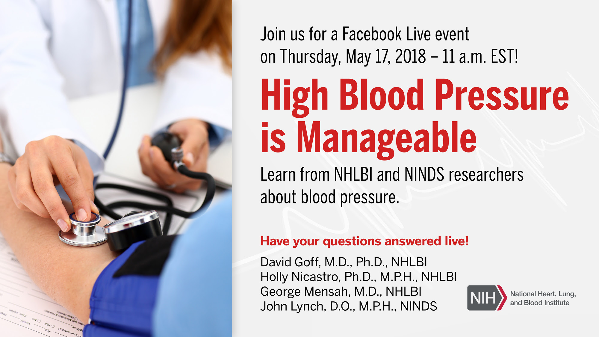 NHLBI World Hypertension Day Facebook Live