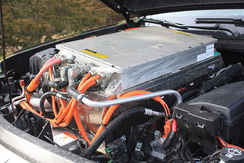 Chevrolet Colorado ZH2 hydrogen fuell cell truck battery