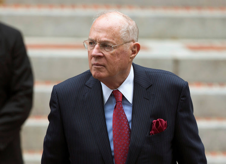 Justice Anthony Kennedy attends the Annual Red Mass at the Cathedral of St. Matthew the Apostle in Washington last October. (Joshua Roberts/Reuters)</p>
