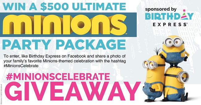 #MinionsCelebrate Giveaway at.