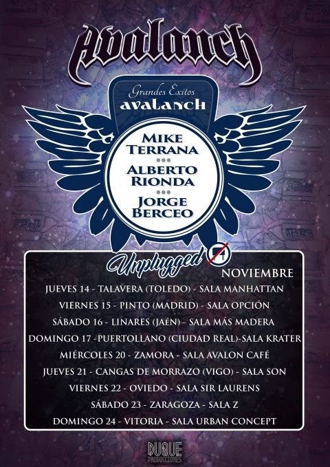 AVALANCH anuncia Conciertos Acústicos! 1
