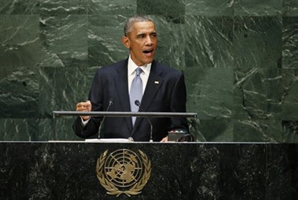 US President Barack Obama addresses the 69th UN General Assembly