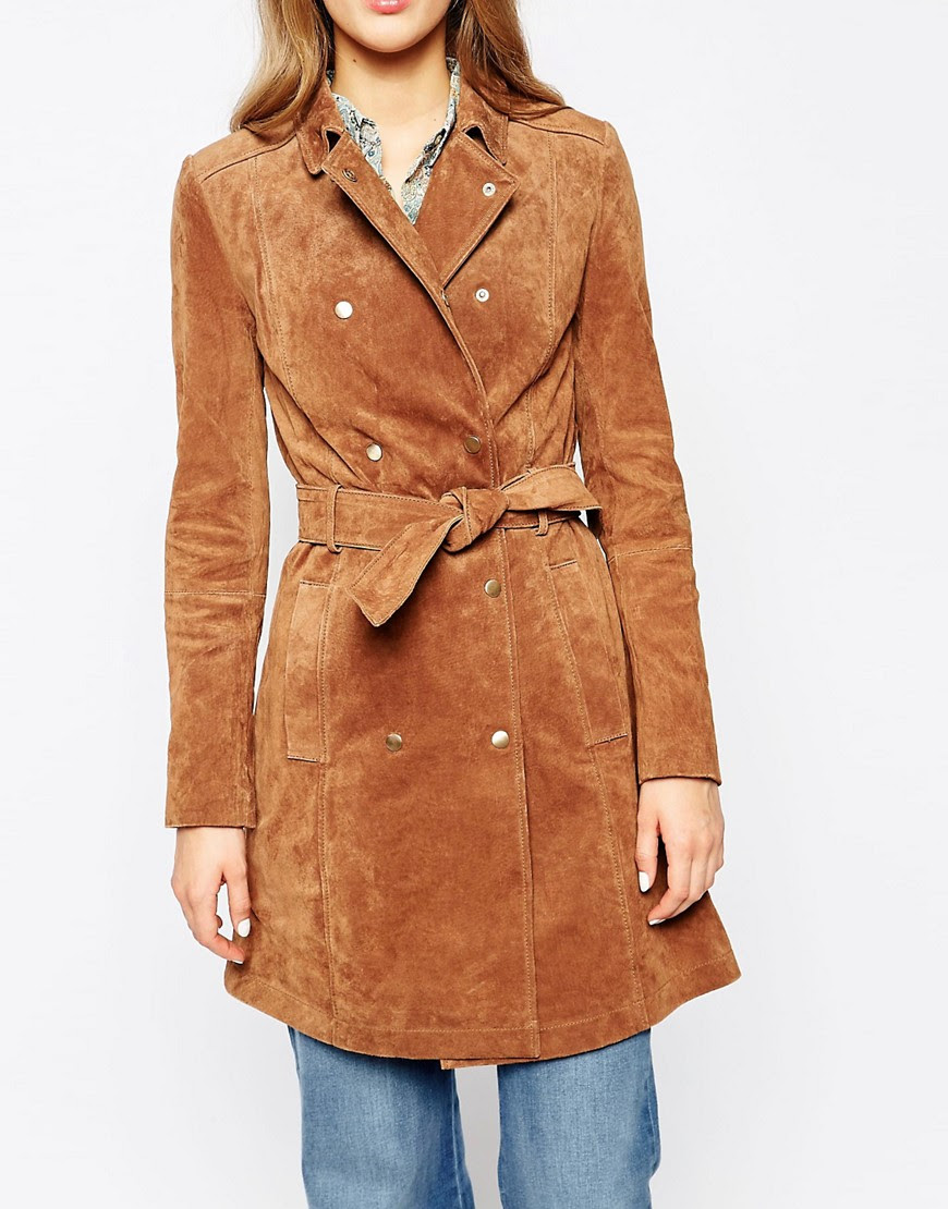 Image 3 of Mango Suede Belted Trench Coat