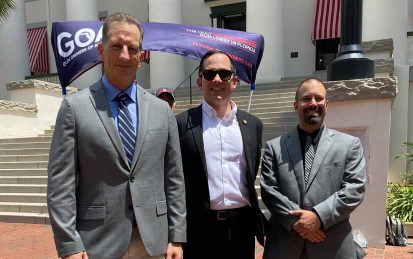 GOA's Erich Pratt and Luis Valdes with FL. Rep. Sabatini