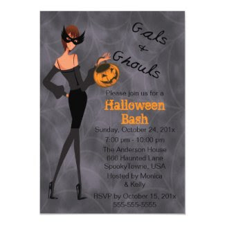 Gals and Ghouls Halloween Party Invitation