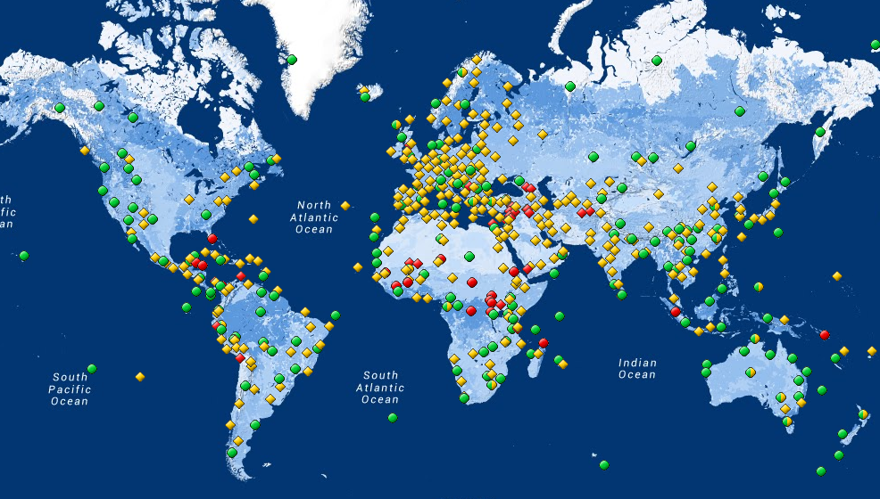UNESCO World Heritage Sites Interactive Map | UNIC Canberra on