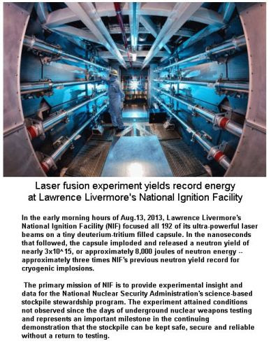 Laser Fusion Experiment