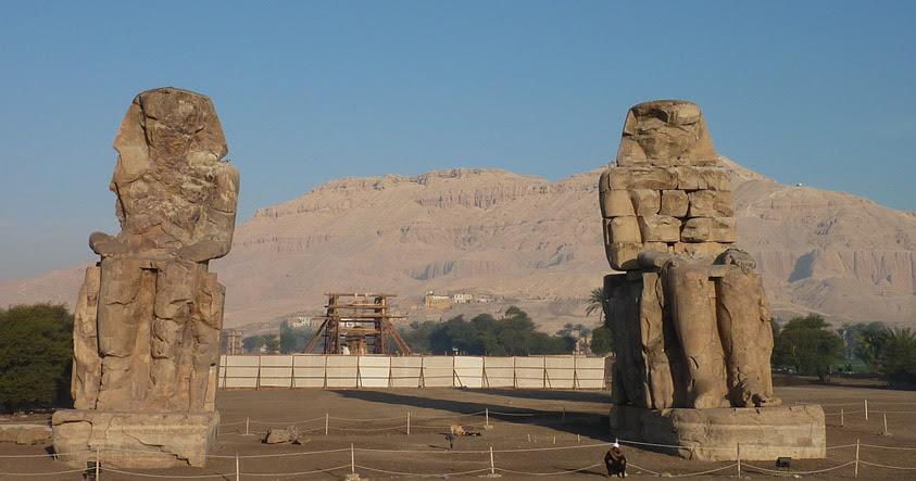 Los Colosos de Memnón: Las más imponentes estatuas egipcias aún en pie