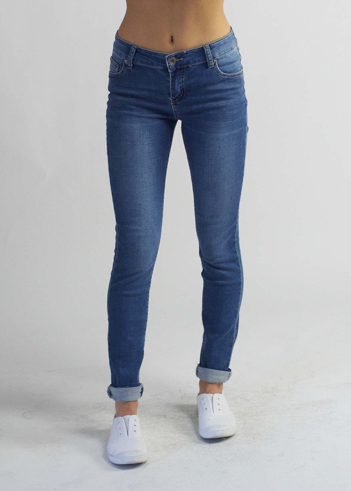 Carousel Vintage Roll Up Jean Blue