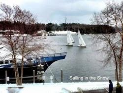 J/22 sailing Harbor Spring frostbite series