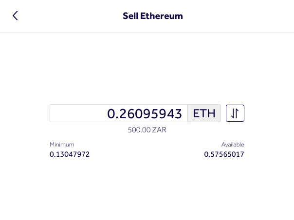 sell ethereum for rands