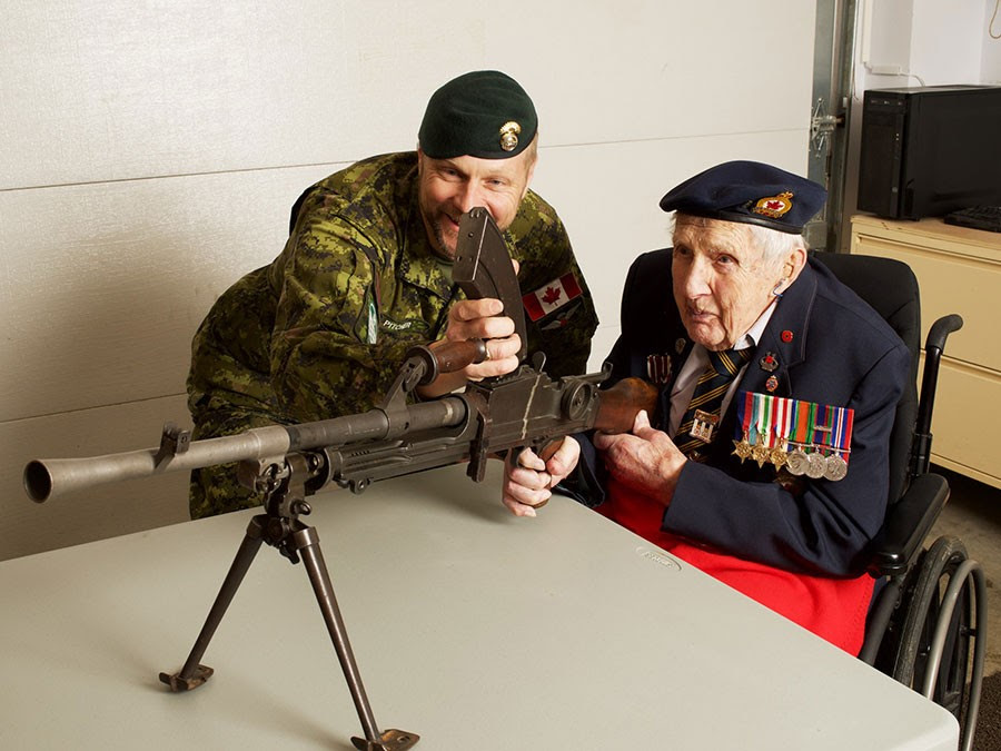 Second World War veterans on the frontlines, again