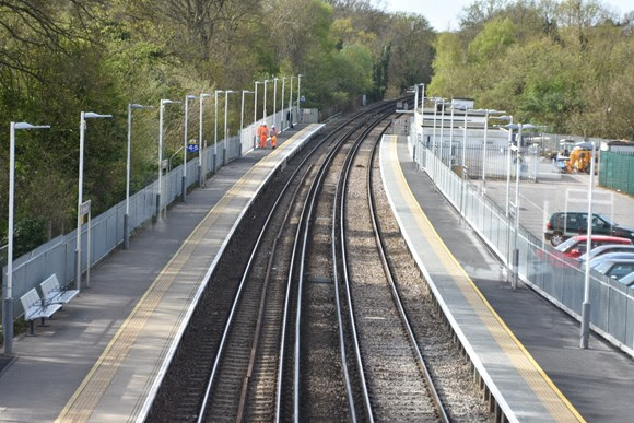 Longer platforms for longer trains: Network Rail completes Egham and Virginia Water platform extensions