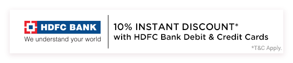 Avail Instant 10% Discount using HDFC Cards