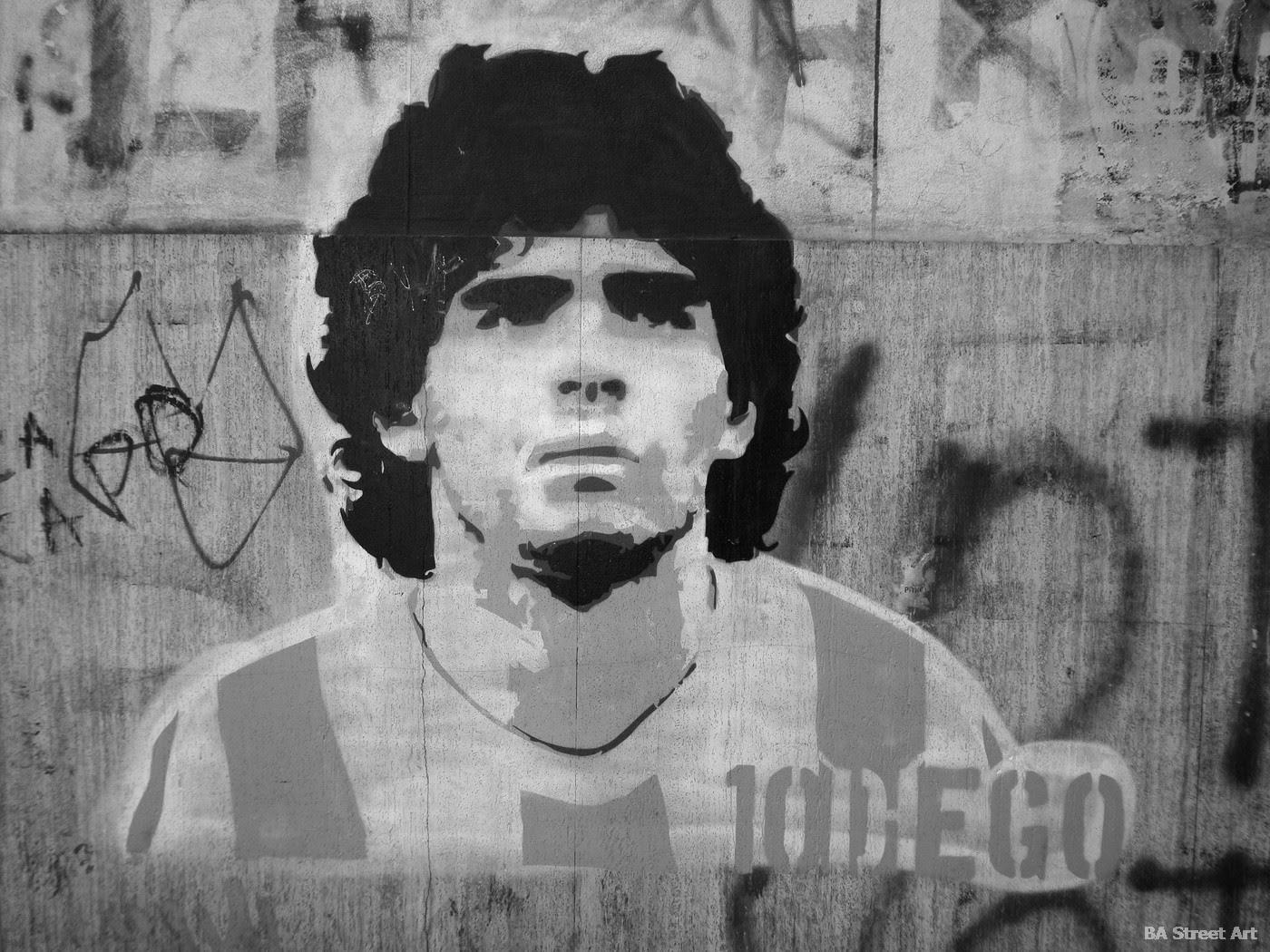 Graffiti depicting Maradona. Photo: Buenos Aires Street Art