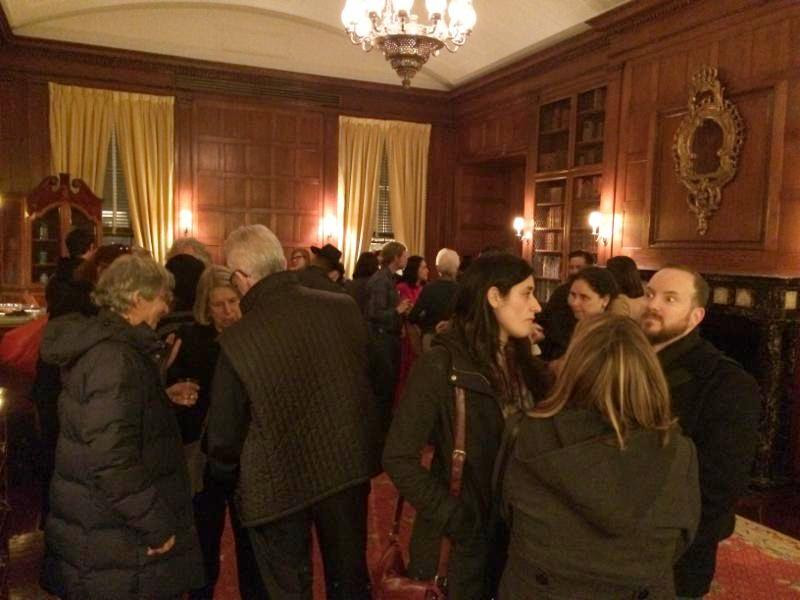 Conversations with Diego Rivera NYC book launch reception in Mexican Room at Americas Society
