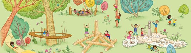 Illustration of the Children's Garden