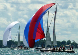 J/120s sailing Nationals- Detroit, MI