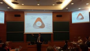 Nuno Pitta explicando la misión personal en relación con la misión de la empresa