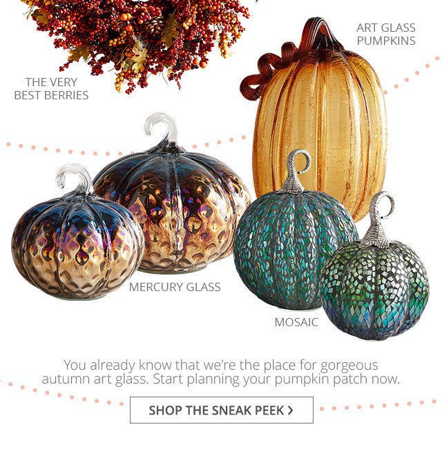 Sneak Peek and shop Harvest and fall products