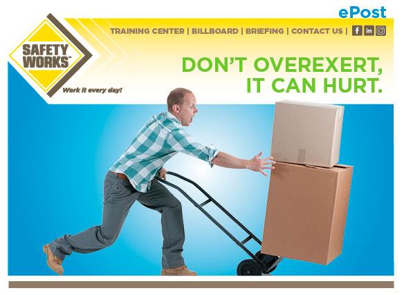 Don't Overexert, It Can Hurt.