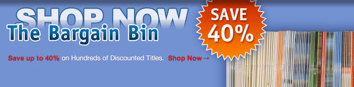 Save up to 40% on Bargain Bin Titles. Shop Now →