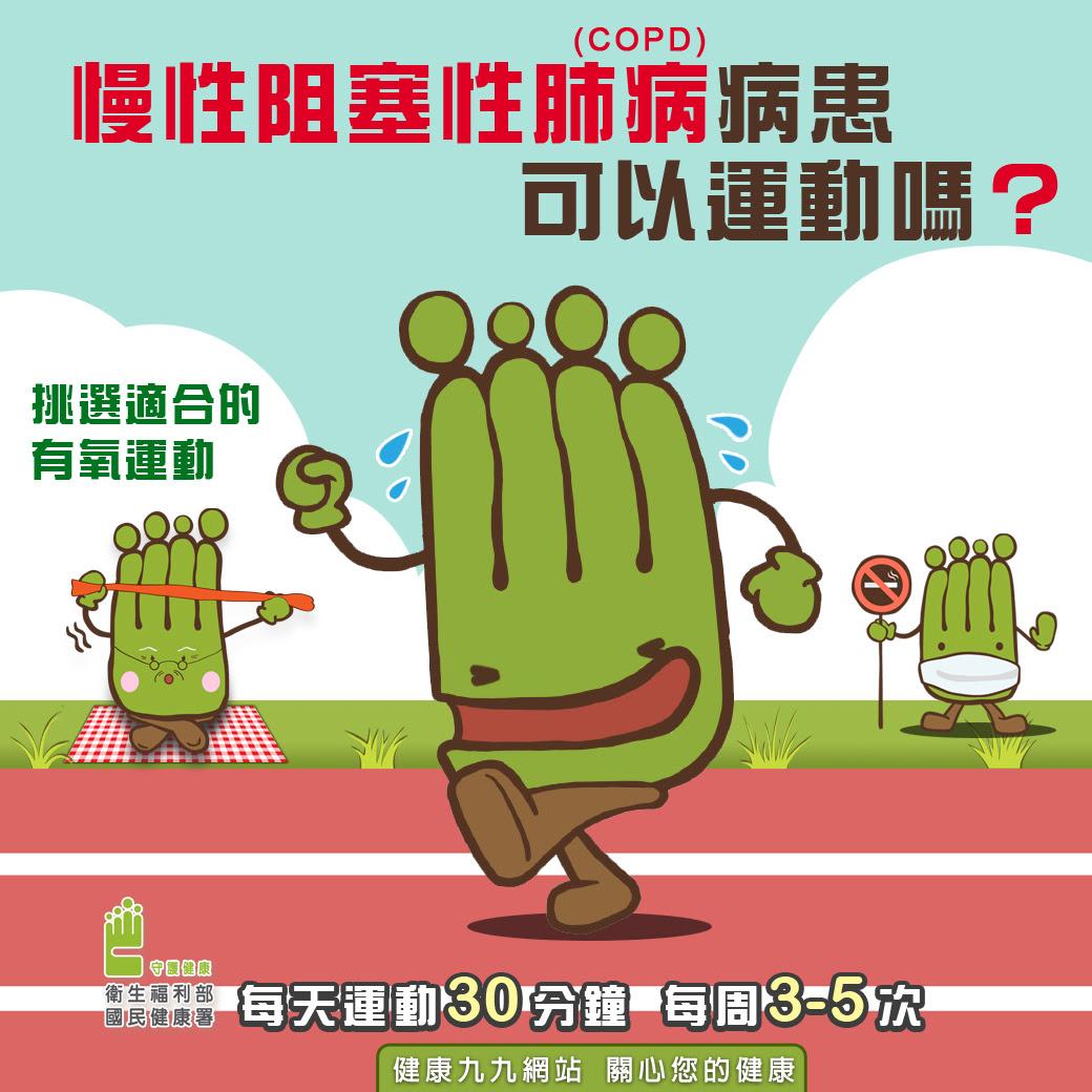 慢性阻塞性肺病(COPD)病患可以運動嗎?