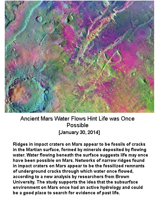 Ancient Water Flows hint life in Mars