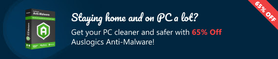 Satay at home & Auslogics Anti-Malware with 65% discount coupon