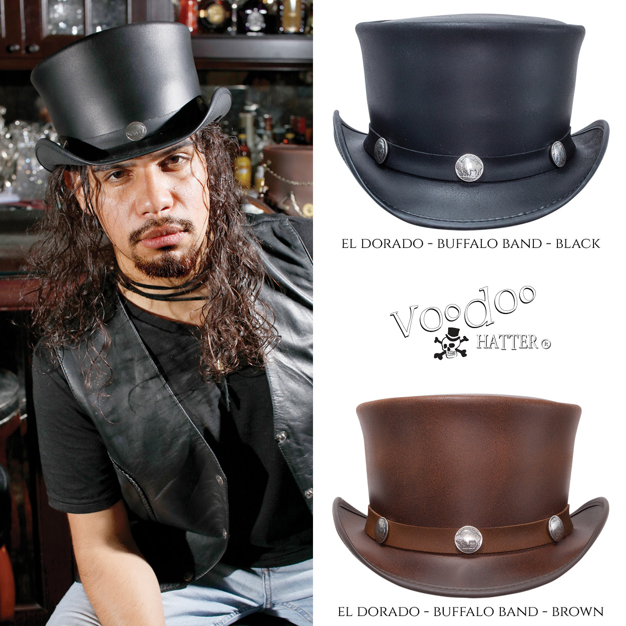 Voodoo El Dorado Buffalo Band Hats