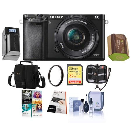 Alpha A6000 Mirrorless Digital Camera with 16-50mm E-Mount Lens, Black - Bundle with Holst