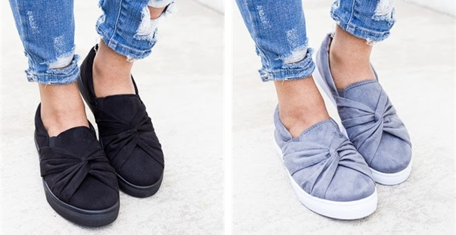 HOT!! Cute Knot Style Sneakers...