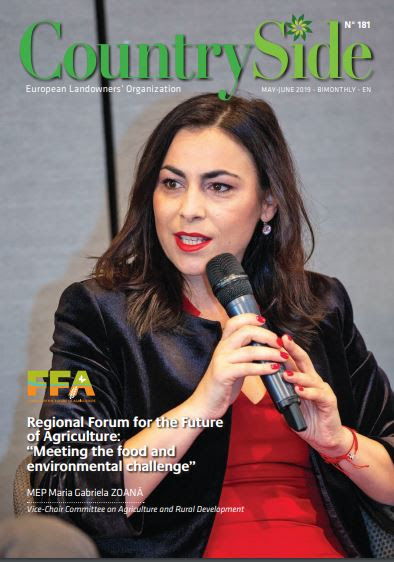 Image shows cover of August 2019 European Landowners' Magazine