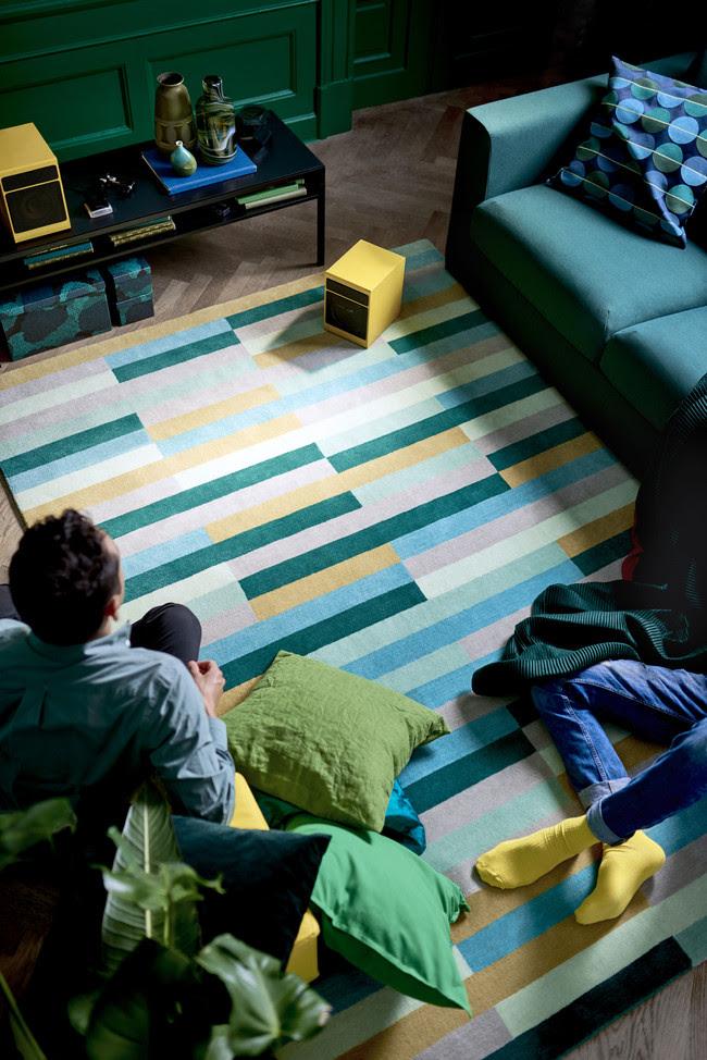 Ikea Novedades 2017 Ph144964 Kronge Alfombra Pelo Corto Lana Algodon Multicolor Lowres