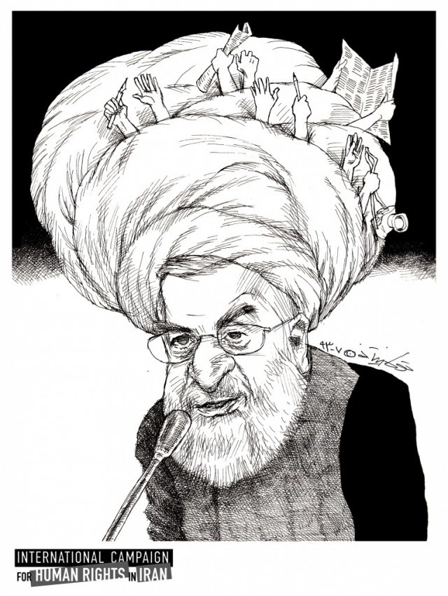 President Rouhani's Cartoon
