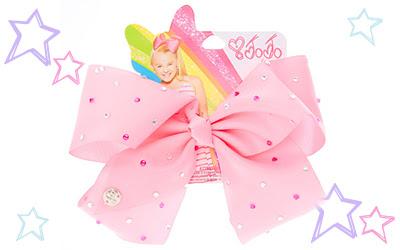 JoJo Siwa Large Rhinestone Pink Signature Hair Bow
