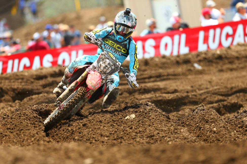 Jeremy Martin rounded out the overall podium in third.Photo: MX Sports Pro Racing / Jeff Kardas